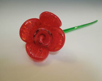 Red Glass Rose #3
