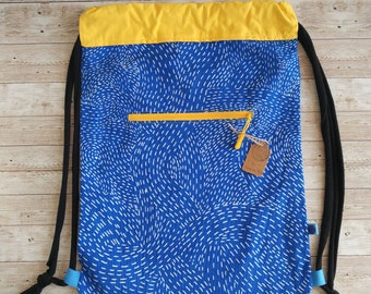 Backpack. Blue and orange