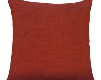 Dark Rust Orange Pillow Throw Cover Decorative Cushion