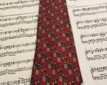 Vintage Golf Theme Necktie, Golfing Tie, Sports Tie
