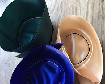 Satin silk Hat Liner for Fedoras and Cowboy Hats Stetson