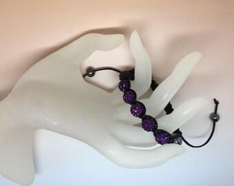 Amethyst, Plum, violet shamballa bracelet