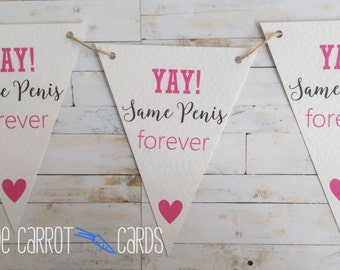 Same Penis Forever, Hen Party Decoration, Hen Party Bunting, Hen Party Banner, Bridal Shower Banner, Bride To Be Banner, Hen Party Favor