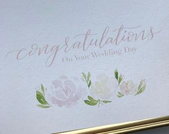 Congratulations, 5x7 Card, Calligraphy, Printable, Digital, Wedding, Event, Adoption, Fundraiser