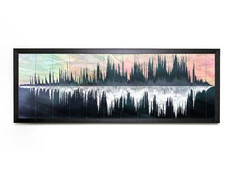 Joni Mitchell - Both Sides Now - Sound Wave Visualization (Spectrogram - Printable Science Art - Panoramic - Instant Digital Download)