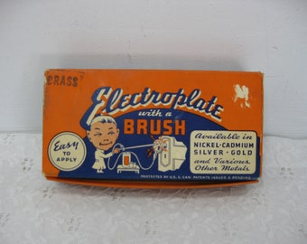 Rapid Brush Plating Kit Electroplate With A Brush 1948 Rapid Electroplating Process Inc