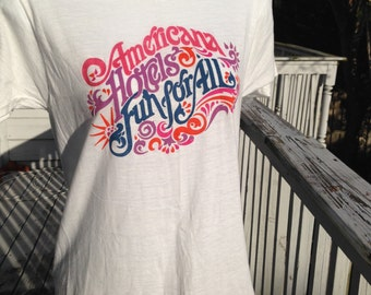 Vintage Americana Hotels Screen Stars Shirt