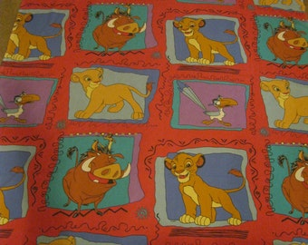 Lion King Bed Sheet-Lion King Flat Sheet-Lion King Flat Bed Sheet-Childs Bedding-Retro Lion King-1990s Bedding-Disney Bed Sheet-Simba