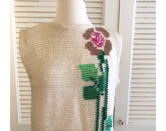 Fab Vintage Sequined Top! Perfect condition! M/L