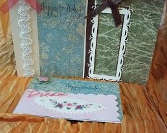 Set of Birthday  Cards, Birthday Cards, Greeting Cards, Cards, Card Set, Handcrafted Cards, Handmade Cards, FREE SHIPPING