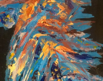 Abyss-Textured Abstract Painting