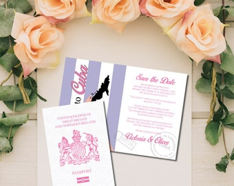 Folded Wedding Save the Date Cards