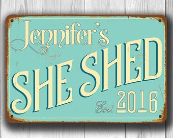SHE SHED SIGN, Customizable She Shed, Vintage style She Shed Sign, Customizable Signs, She Shed Signs, Custom She Shed sign, She Shed Decor