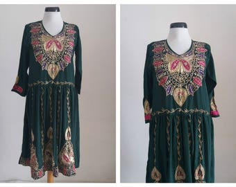 Vintage Indian dress | embroidered dress | Indian embroidered dress