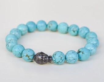 Turquoise Buddha Meditation Bracelet