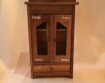 Rustic Handmade Armoire/ Miniature