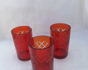 Russian Vodka set. Vintage Set of 3 Vodka Glasses. Soviet Vodka Set. Set of Vodka Shot Glasses. Wine Glasses. Gift for him.
