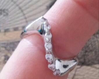 Swirl Wave Sterling Ring. 7.25
