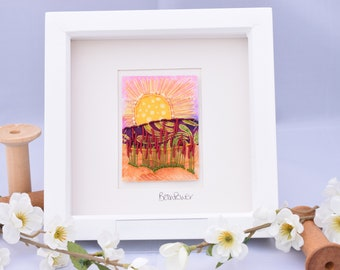 Framed Mini III - Original Stitchscape