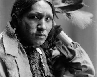 "Gertrude Kasebier Photo, ""Plenty Wounds"", 1901, Dakota Indian"