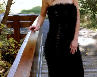 Handknit Black Dress
