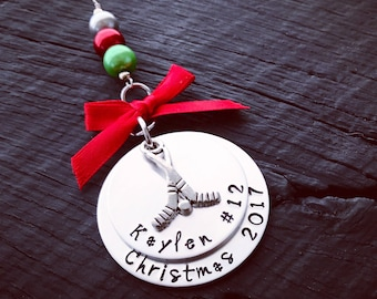 Hockey Christmas Ornament | Athletic Ornament | Gift For Coach | Sports Ornament | End Of Season Gift | Tournament Gift | Coach Ornament