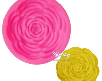 silicone mold for polymer clay Peony flower
