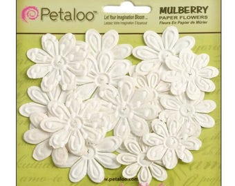 Set of 24 paper embellishment scrapbooking.* Petaloo flowers
