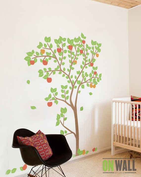 Nursery appletree wall decal wall sticker tree vinyl wall