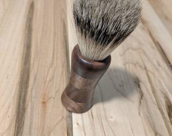 Black walnut shave brush best badger shave brush black badger shave brush bespoke shave brush shave kit handmade badger shave brush