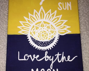 Live By The Sun, Love By The Moon Canvas--9x12""