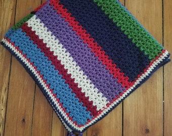 V-Stitch Crocheted Baby Blanket