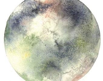 Callisto Moon Watercolour Print