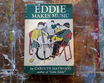 Vintage Children's Book Eddie Makes Music Carolyn Haywood 1974 Signed Illustrated Boy Story