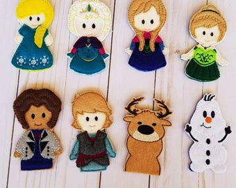 Frozen Inspired Finger Puppets