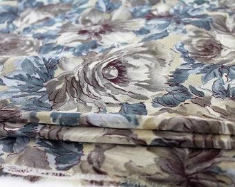 John Kaldor/ Floral Chiffron Fabric/ 3 Metres/Dress Making Fabric/ Clothes Making/ Craft Supplies & Tools/ Fabric/Haberdhashery (001N)