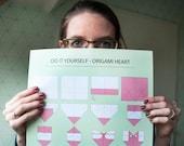 Poster A3 DIY Origami Hea...