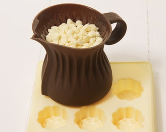 Silicone Chocolate Melting Jug to go with Chocolate Making Kits, candy molds, chocolate molds, use in microwave, gift for chocolate lover