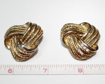 Vintage Antique Gold Tone Knot Shoe Clips Marked Bluette Made In France  - Used