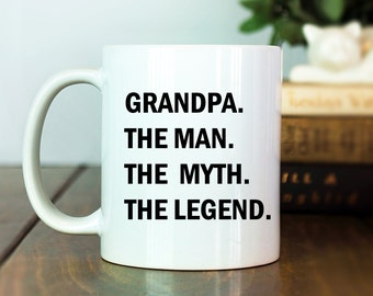 Father's Day Gift | Grandpa Papa Dad Pops | The Man The Myth | Personalize Father's Day | Gift for Him | Gift for Dad | Father Mug | M34