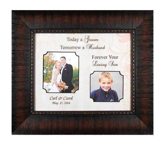 Wedding Picture Frame-Gift to Parents Today a Groom Gift to Dad ...