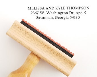 Address Name Stamp - Single, Couples or Family Personalization - Gift From Mom to Son and Fiance (609)