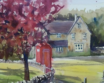 Snowshill in autumn; English village