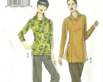 Vogue 8699 Cowl Neck Fitted Tunic Top Pants Sewing Pattern Size 8 - 10 - 12 - 14 Very Easy