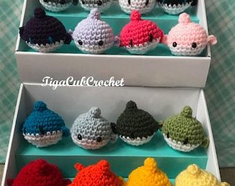 Crochet Mini Whale Ocean Animal Cute Amigurumi Plush Made To Order