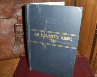 1944 Bluejackets' Manual Navy Hardcover 12th Edition