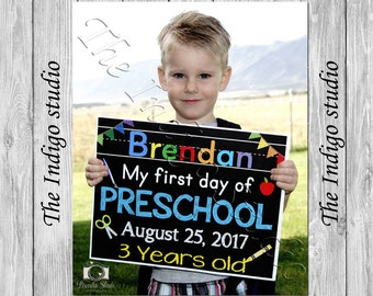 First or Last Day of School Sign Any Grade Boy and Girl Colors Digital File Personalized & Custom Chalkboard 8x10 Poster  Get if Fast!