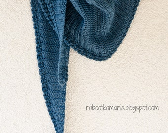Crochet Shawl PATTERN (pdf file) – Simple Shawl with Puff Stitch (Instant download)