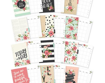 Simple Stories Carpe Diem personal BLOOM monthly inserts