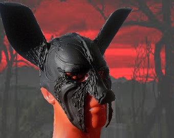 Cosplay worbla, devil mask with his girlfriend- bany, club wear, fetish.